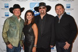Tracy Lawrence, Angie Gentry, Eddie Montgomery, Storme Warren - C'Ya On The Flipside II Concert; Photo by Debbie Wallace