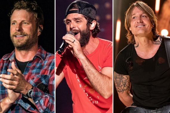 Dierks Bentley, Thomas Rhett, Keith Urban; Photos by Andrew Wendowski