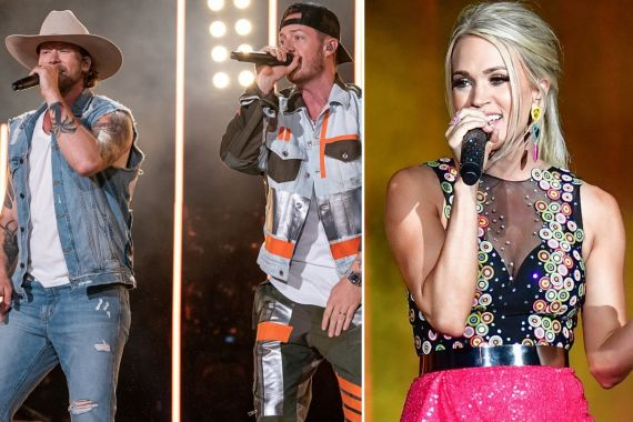 Florida Georgia Line; Photo by Andrew Wendowski, Carrie Underwood Photo by Erika Goldring/Getty Images for CMT