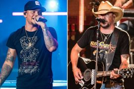 Kane Brown, Jason Aldean; Photos by Andrew Wendowski