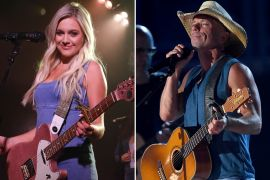 Kelsea Ballerini; Photo by ABC/Randy Holmes, Kenny Chesney; Photo by Ethan Miller/Getty Images for dcp