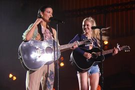 Halsey and Kelsea Ballerini; Photo by Jason Kempin, Courtesy CMT