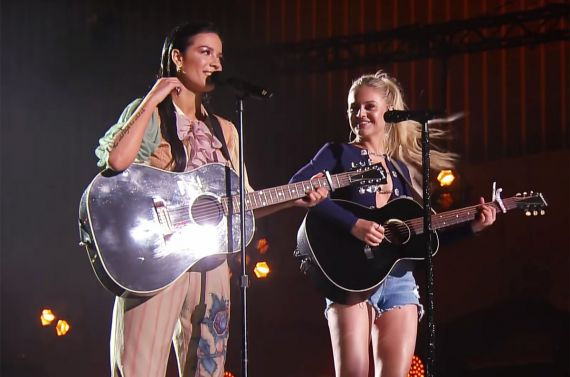 Halsey and Kelsea Ballerini; Photo by Jason Kempin, Courtesy CMT