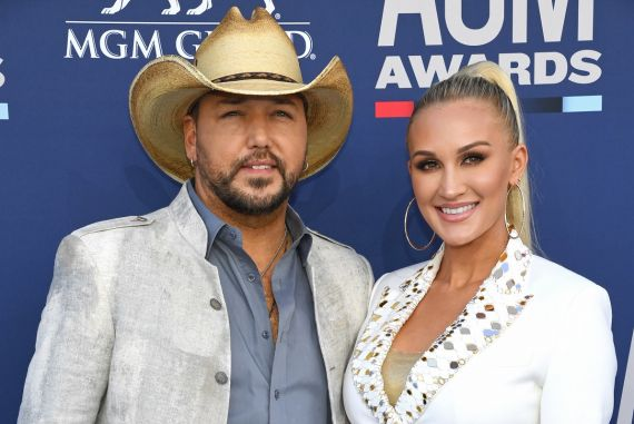 Jason Aldean and Brittany Aldean; Photo by Ethan Miller/Getty Images