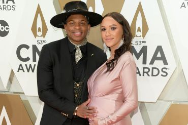 Jimmie Allen and Alexis Galel Photo by Jason Kempin/Getty Images