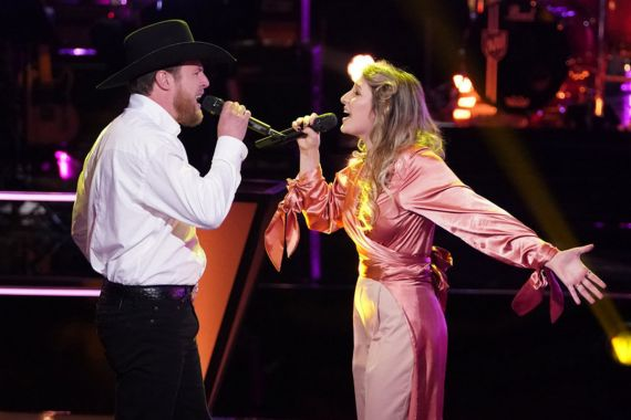 'The Voice' Contestants Kailey Abel and Cam Spinks; Photo by Tyler Golden/NBC
