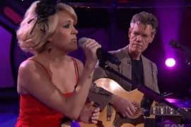 Carrie Underwood, Randy Travis; Photo via YouTube
